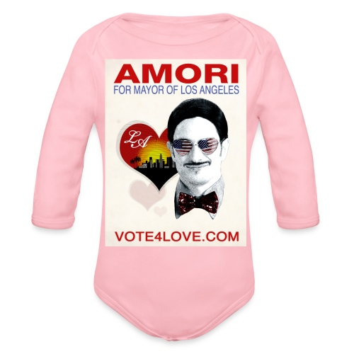 Amori for Mayor of Los Angeles eco friendly shirt - Organic Long Sleeve Baby Bodysuit