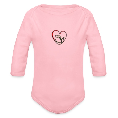 Love and Pureness of a Dove - Organic Long Sleeve Baby Bodysuit