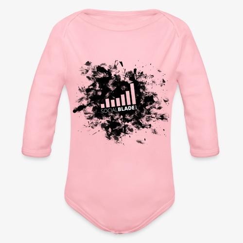 Grunge Logo - Organic Long Sleeve Baby Bodysuit