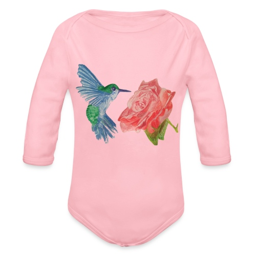 Hummingbird - Organic Long Sleeve Baby Bodysuit