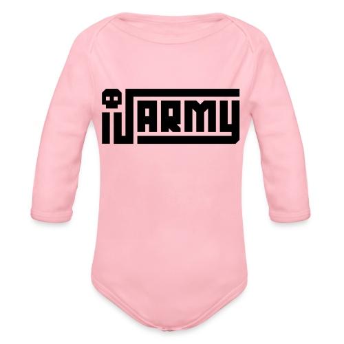 iJustine - iJ Army Logo - Organic Long Sleeve Baby Bodysuit