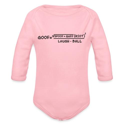 gaff text transparent - Organic Long Sleeve Baby Bodysuit