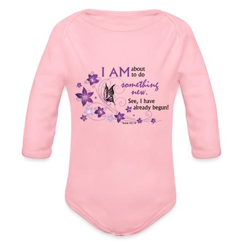 Something new - Organic Long Sleeve Baby Bodysuit