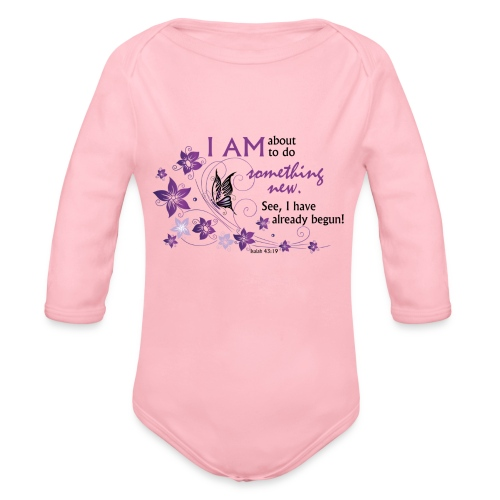 Something new - Organic Long Sleeve Baby Bodysuit