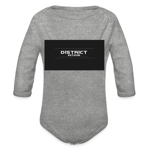 District apparel - Organic Long Sleeve Baby Bodysuit