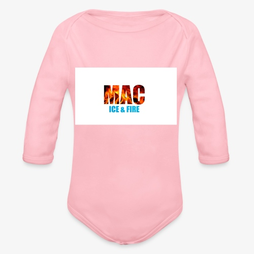 ICE FIRE - Organic Long Sleeve Baby Bodysuit