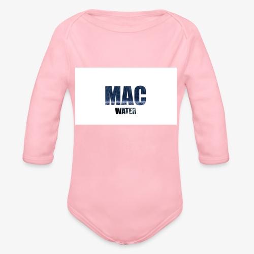 WATER - Organic Long Sleeve Baby Bodysuit