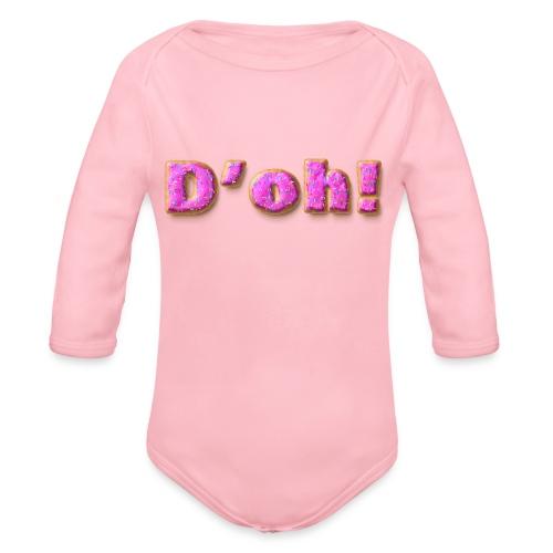 Homer Simpson D'oh! - Organic Long Sleeve Baby Bodysuit