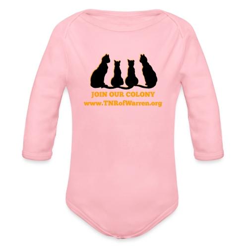 TNR JOIN OUR COLONY - Organic Long Sleeve Baby Bodysuit