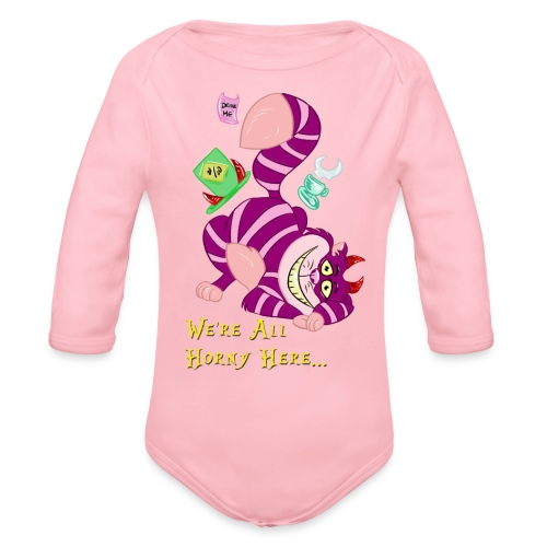 Cheshire Cat - Organic Long Sleeve Baby Bodysuit