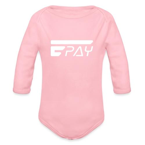 EUNOPAY LOGO WHITE - Organic Long Sleeve Baby Bodysuit