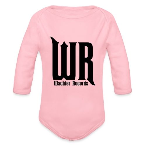 Wachler Records Dark Logo - Organic Long Sleeve Baby Bodysuit