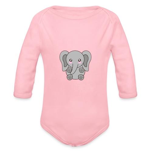 elefante - Organic Long Sleeve Baby Bodysuit