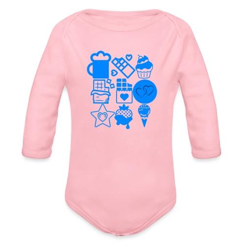 CHOCOLATE - Organic Long Sleeve Baby Bodysuit