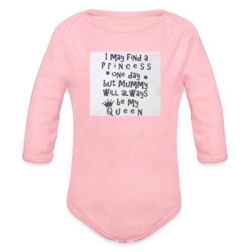 my princess - Organic Long Sleeve Baby Bodysuit