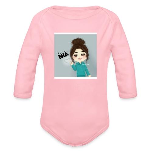 NIA FAMILY - Organic Long Sleeve Baby Bodysuit