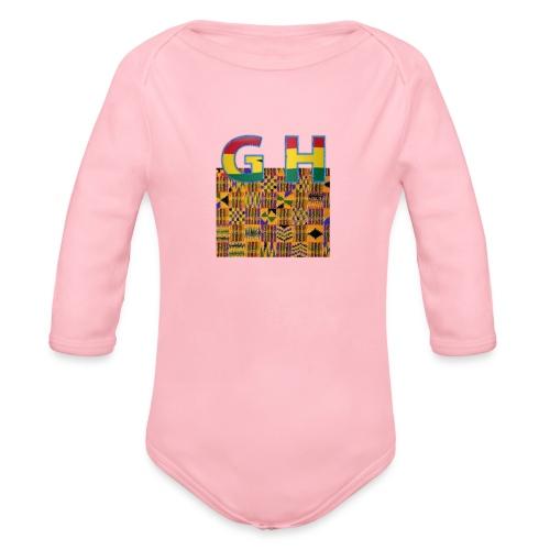 Ghana Pride - Organic Long Sleeve Baby Bodysuit