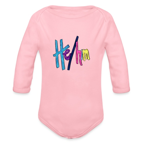 He/Him 1 - Large - Organic Long Sleeve Baby Bodysuit