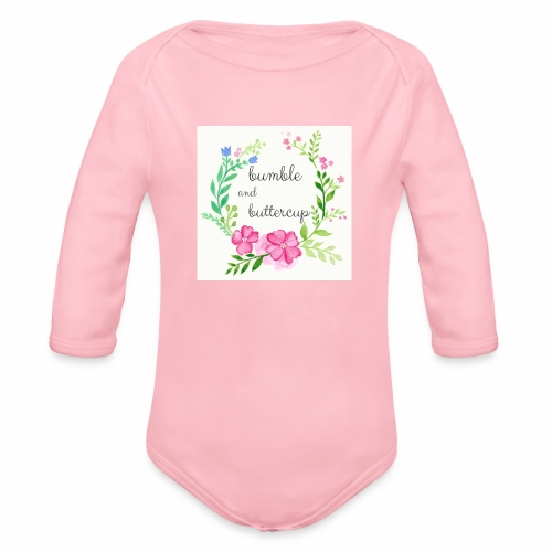 Bumble and Buttercup Little Ones - Organic Long Sleeve Baby Bodysuit