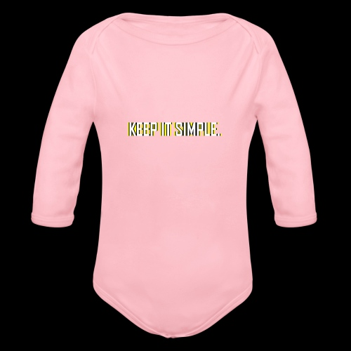 Keep It Simple - Organic Long Sleeve Baby Bodysuit