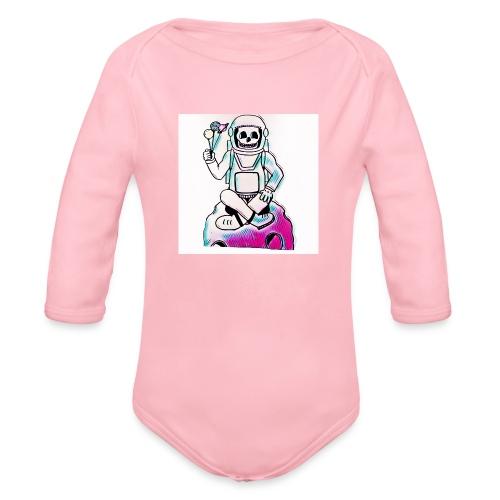 Astro Skull - Organic Long Sleeve Baby Bodysuit