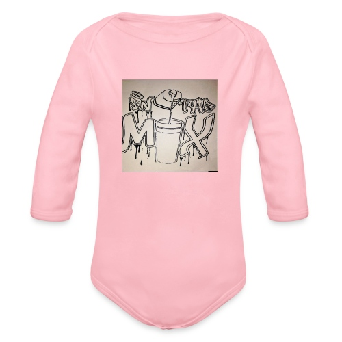 IN THE MIX LOGO - Organic Long Sleeve Baby Bodysuit