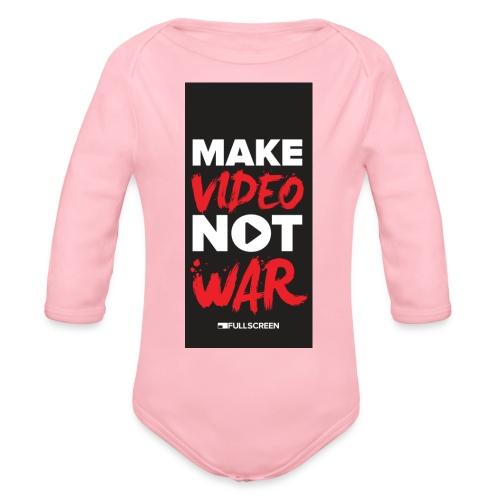 wariphone5 - Organic Long Sleeve Baby Bodysuit