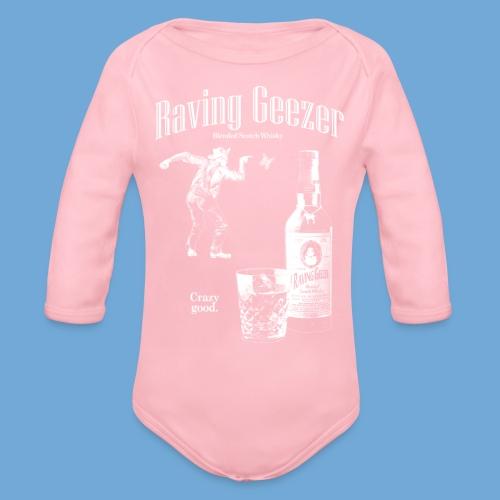Raving Geezer Whiskey - Organic Long Sleeve Baby Bodysuit