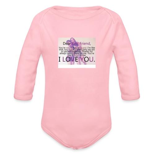 Cute best friends - Organic Long Sleeve Baby Bodysuit