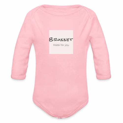 Brunnet pink edition - Organic Long Sleeve Baby Bodysuit