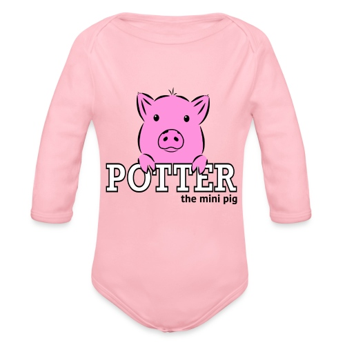 Potter's Logo - Organic Long Sleeve Baby Bodysuit