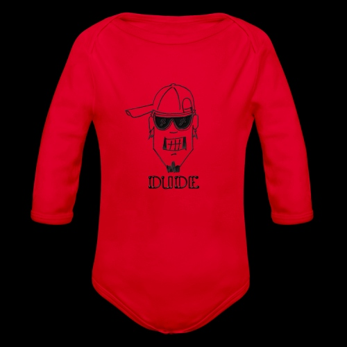 Dude Head 2 - Organic Long Sleeve Baby Bodysuit