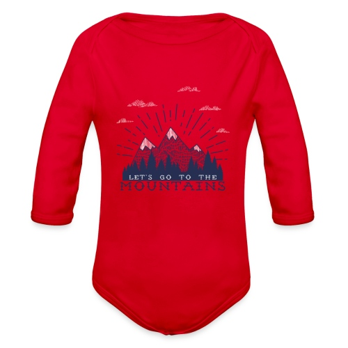 Adventure Mountains T-shirts and Products - Organic Long Sleeve Baby Bodysuit