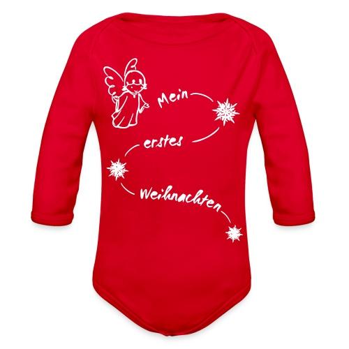 My first Christmas 2reborn - Organic Long Sleeve Baby Bodysuit