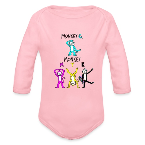 monkey see myk - Organic Long Sleeve Baby Bodysuit