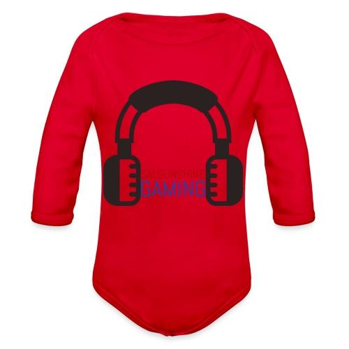 SALSUNSHINE GAMING LOGO - Organic Long Sleeve Baby Bodysuit