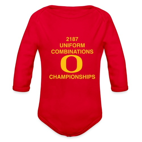 2187 UNIFORM COMBINATIONS O CHAMPIONSHIPS - Organic Long Sleeve Baby Bodysuit