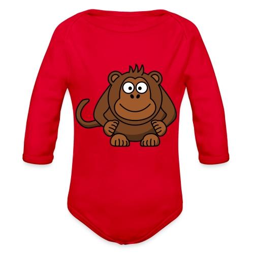 Funny Monkey - Organic Long Sleeve Baby Bodysuit