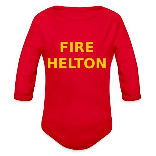 Fire Helton Shirt - Organic Long Sleeve Baby Bodysuit