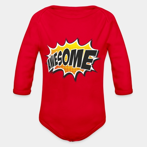 Awesome - Organic Long Sleeve Baby Bodysuit