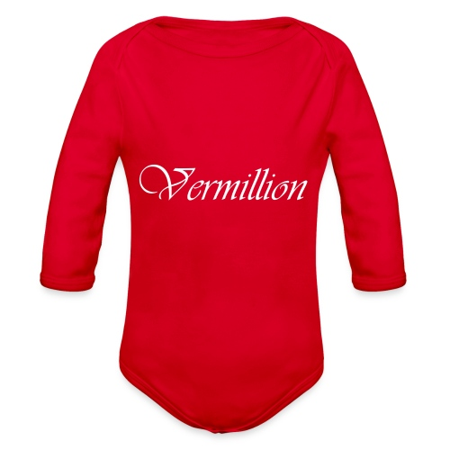 Vermillion T - Organic Long Sleeve Baby Bodysuit