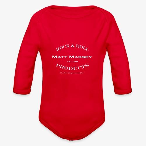 Matt Massey Rock Products - Organic Long Sleeve Baby Bodysuit