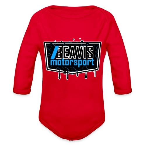 BEAVIS Motorsport Badge Logo - Organic Long Sleeve Baby Bodysuit