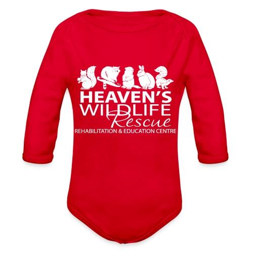 HWR White - Organic Long Sleeve Baby Bodysuit