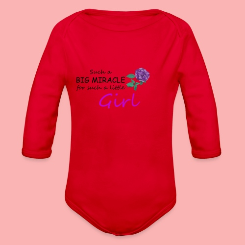 Big Miracle - Organic Long Sleeve Baby Bodysuit