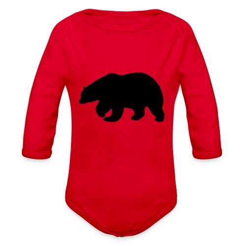 Bear Sihloette Design - Organic Long Sleeve Baby Bodysuit