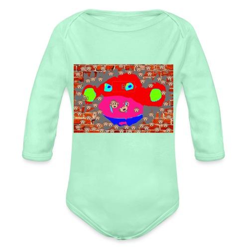 monkey by brax - Organic Long Sleeve Baby Bodysuit