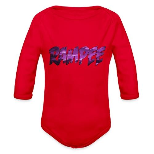 Purple Cloud Rampee - Organic Long Sleeve Baby Bodysuit