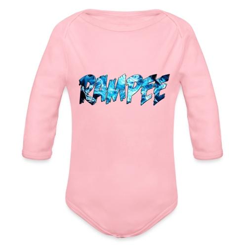 Blue Ice - Organic Long Sleeve Baby Bodysuit