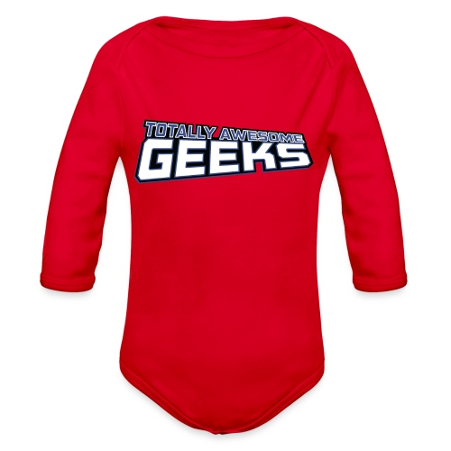 Logo For Totally Awesome Geeks - Organic Long Sleeve Baby Bodysuit